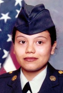 Sgt. Melissa Valles of Eagle Pass, Texas died, July 9, 2003 in a non-combat accident in Iraq. She was the 69th soldier to die in Iraq since May 1, 2003. (AP Photo/HO)